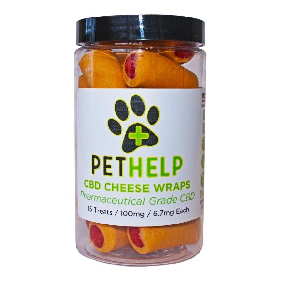 Pet Help CBD 100mg Dog Treats Cheese Wraps