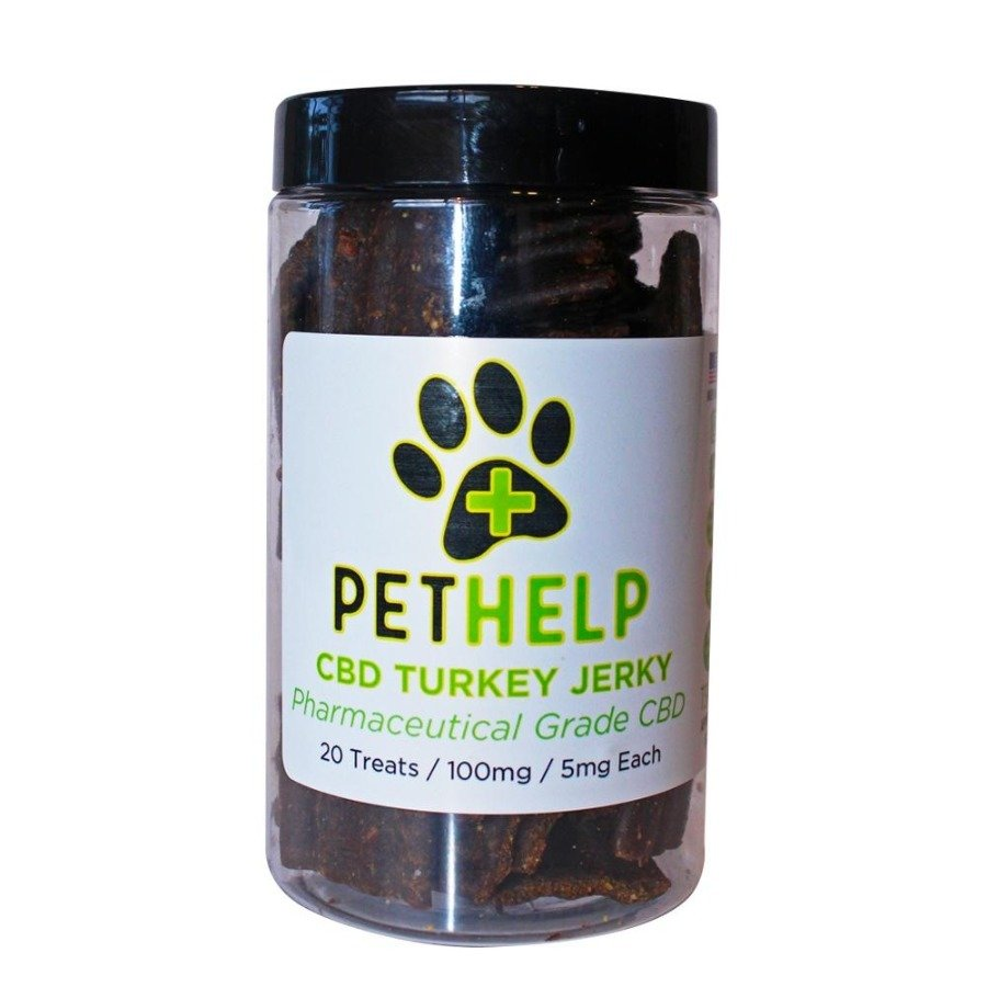 Pet Help CBD 100mg Dog Treats Turkey Jerky Sticks