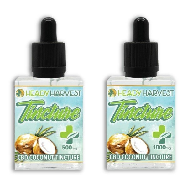 Heady Harvest 500mg 1000mg CBD Coconut Oil Tincture