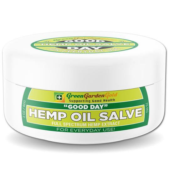 Green Garden Gold 75MG CBD Jar Salve Topical Ointment Pain Cream